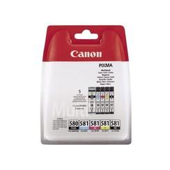 Inktcartridge Canon PGI-580 + CLI-581 2x zwart + 3 kleuren