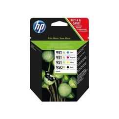 Inktcartridge HP C2P43AE 950XL 951XL zwart + 3 kleuren HC