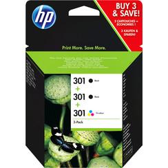 Inktcartridge HP E5Y87EE 301 2 x zwart + kleur
