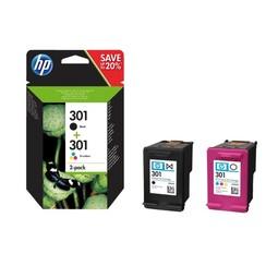 Inktcartridge HP N9J72AE 301 zwart + kleur