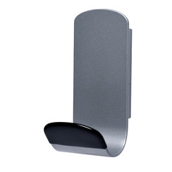 Kapstokhaak magneet Unilux Steely 1 haak grijs