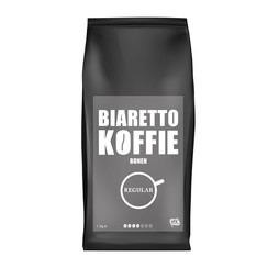 Koffie Biaretto bonen regular 1000gr
