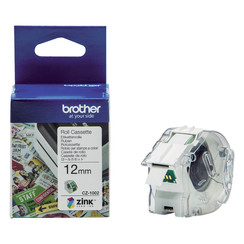 Labeletiket Brother CZ-1002 12mmX5m kleur opdruk