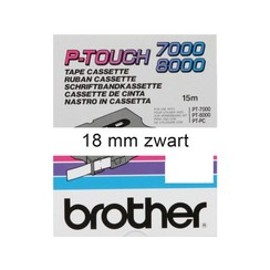 Labeltape Brother P-touch TX-241 18mm zwart op wit