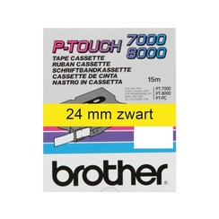 Labeltape Brother P-touch TX-651 24mm zwart op geel
