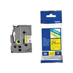 Labeltape Brother P-touch TZE-651 24mm zwart op geel