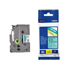 Labeltape Brother P-touch TZE-731 12mm zwart op groen