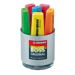 Markeerstift STABILO Boss Original 7006 deskset  à 6 kleuren