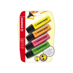 Markeerstift STABILO Boss Original 70/4 blister à 4 kleuren