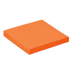 Memoblok Quantore 76x76mm neon oranje