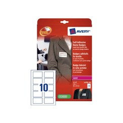Naambadge etiket Avery L4785-20 80x50mm zk 200stuks
