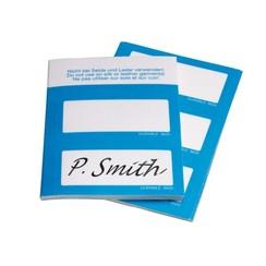 Naambadge etiket Durable 8605 30x60mm zelfklevend blauw