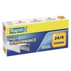 Nieten Rapid 24/6 gegalvaniseerd strong 1000 stuks