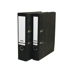 Ordner budget A4 80mm karton zwart gewolkt