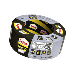 Plakband Pattex Power Tape 50mmx50m grijs