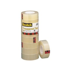 Plakband Scotch 550 19mmx33m transparant krimp 8rollen