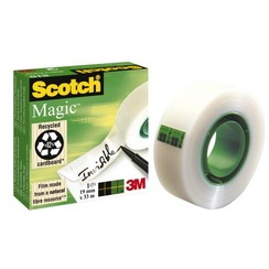 Plakband Scotch Magic 810 onzichtbaar 19mmx33m