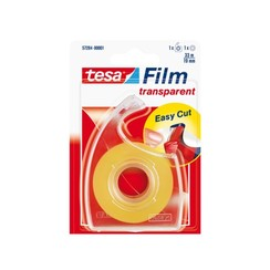Plakband Tesa film 19mmx33m transparant op dispenser