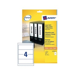 Rugetiket Avery 62x192mm zelfklevend breed wit