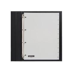 Tabbladen Quantore 4-gaats 1-10 genummerd grijs PP