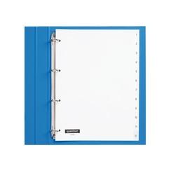 Tabbladen Quantore 4-gaats 1-12 genummerd wit PP