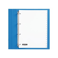 Tabbladen Quantore 4-gaats 1-20 genummerd wit PP