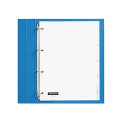 Tabbladen Quantore 4-gaats 1-5 genummerd wit PP