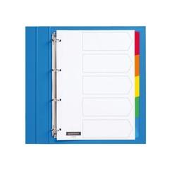 Tabbladen Quantore 4-gaats 5-delig wit karton