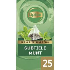 Thee Lipton Exclusive Subtile Munt 25 piramidezakjes