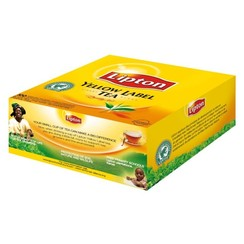 Thee Lipton Yellow label met envelop 100stuks