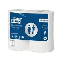 Toiletpapier Tork T4 120261 Advanced 2laags 488vel 4rollen wit