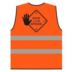 Veiligheidshesje afstand houden XL oranje
