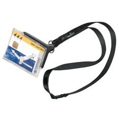 Veiligheidspashouder Durable 8207 met textielkoord antraciet