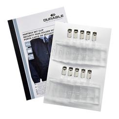 Veiligheidspashouder Durable Security met clip 54x85mm set à 10stuks