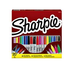 Vilstift Sharpie 0,5 en 0,9 assorti doos à 20 stuks