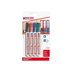 Viltstift edding 3000 rond assorti 1.5-3mm blister à 4st