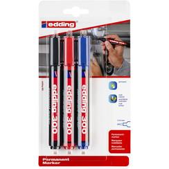 Viltstift edding 300 rond 1.5-3mm blister à 3 kleuren