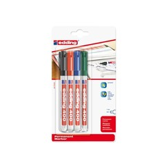 Viltstift edding 400 rond assorti 1mm blister à 4st
