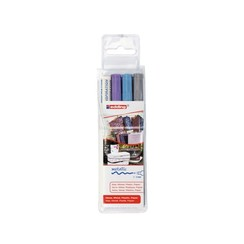 Viltstift edding 751 lakmarker rond assorti 1-2mm etui à 3st