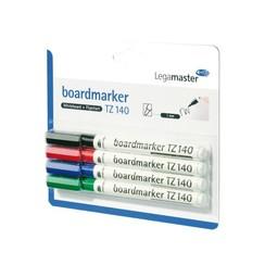 Viltstift Legamaster TZ140 whiteboard rond assorti 1mm 4st