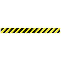 Vloersticker OPUS 2 rechte lijn geel/zwart