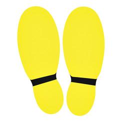 Vloersticker OPUS 2 voeten 2x geel/zwart