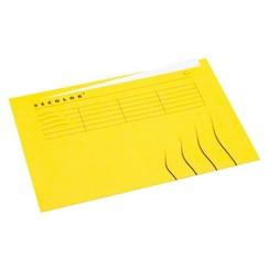 Vouwmap Jalema Secolor A4 ongelijk geel