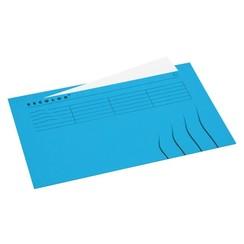 Vouwmap Jalema Secolor Folio ongelijk blauw