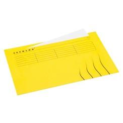 Vouwmap Jalema Secolor Folio ongelijk geel