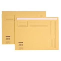 Vouwmap Quantore A4 ongelijke zijde 230gr beige
