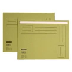 Vouwmap Quantore A4 ongelijke zijde 230gr groen