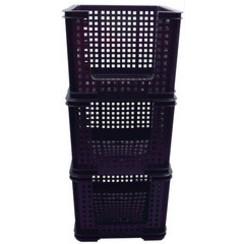 SET 3 Really Useful Opbergmand 35 liter 710x440x310mm zwart