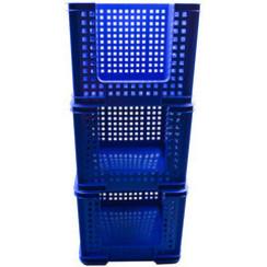 SET 3 Really Useful Opbergmand 35 liter 710x440x310mm blauw