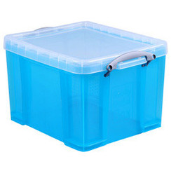 Opbergbox Really Useful 35 liter 480x390x310mm lichtblauw transparant